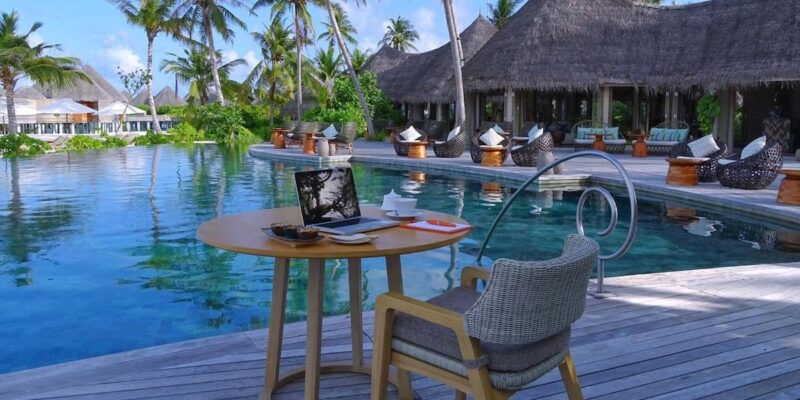 You can work remotely at a luxury resort in the Maldives