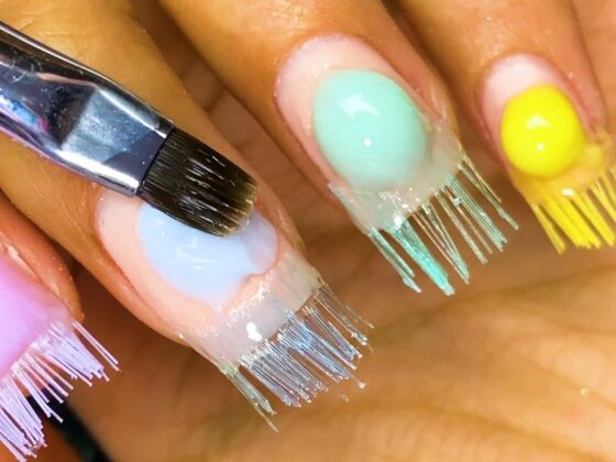 Use toothbrush bristles to create fake nails