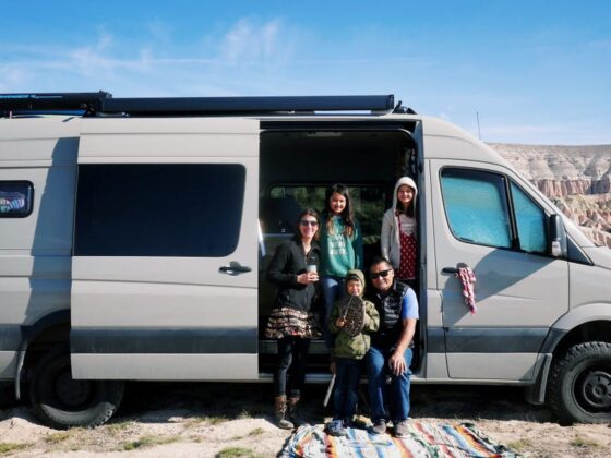 Tour a camper van where a couple is raising three children