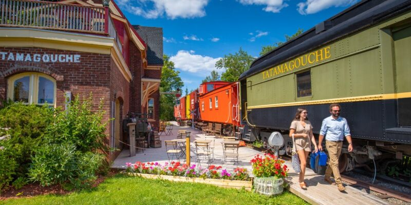 Stay at a vintage railroad that's become a hotel surrounded by nature