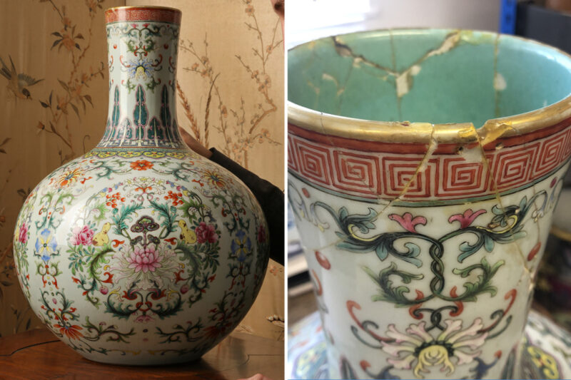 Cracked urn sells for £462k after experts discover it was Chinese emperor's