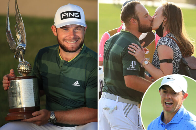 Tyrrell Hatton cruises to four-shot win in Abu Dhabi HSBC Championship as Rory McIlroy falters in final round