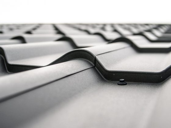 architecture black and white corrugated pattern